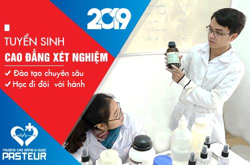 Trường Cao đẳng Y dược Pasteur tuyển sinh Cao đẳng Xét nghiệm trên phạm vi toàn quốc