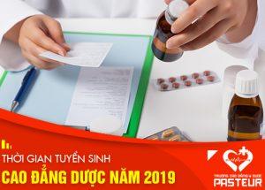 Thời gian đăng ký xét tuyển Cao đẳng Dược Hà Nội 2019 bắt đầu và kết thúc khi nào?